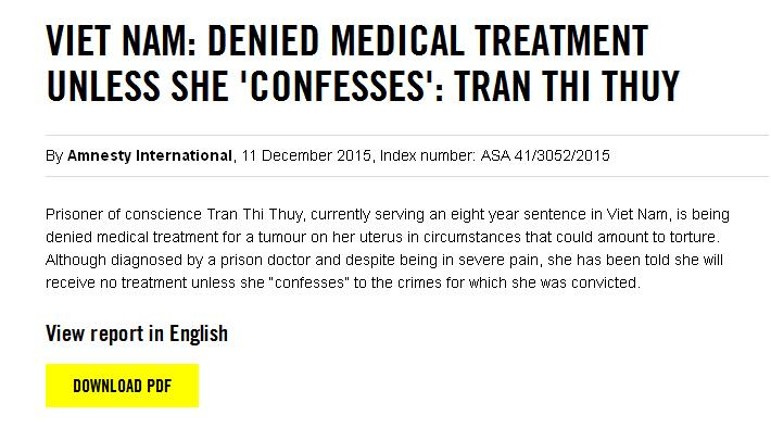 "DENIED MEDICAL TREATMENT UNLESS SHE ""CONFESSES"""