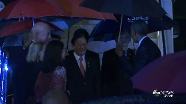 Moment Arrival of President Barack Obama in Vientiane – LAOS