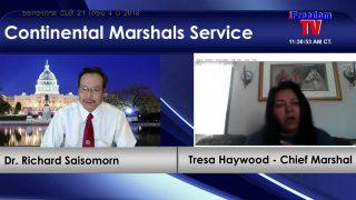 Tresa Haywood – Continental Marshals Service. ON-AIR 21/4/2018