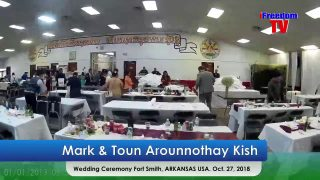 Mark & Toun Arounnothay Kish wedding Ceremony Fort Smith, ARKANSAS USA. Oct. 27, 2018